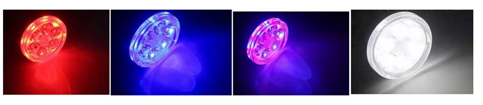 disparos reales de efectos de iluminación
